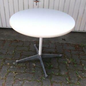 60er 70er Tisch rund Mauser Holz Couchtisch Esstisch mid century 60s 70s table