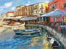 """Morning Port"" by Elena Bond (Fine Art on Canvas Decorative Nautical)"