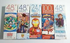 Kids Disney Mickey Frozen Toy Story Marvel Super Hero QTY5 48PC Jigsaw Puzzles