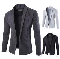 Men's Fashion Sweaters Long Sleeve Casual V-Neck Knitwear Slim Fit Outwear Tops