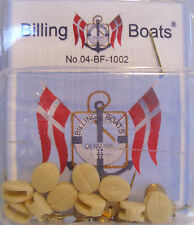 Billing Boats Accessory BF-1002 10 x 10mm Cream Plastic & Brass Single Block Kit