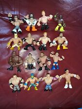 Rumblers WWE LOT 16 Rumblers Mini Figures Wrestlers