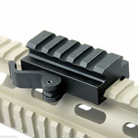 New Hunting 5 Slots QD Quick Release Mount Adapter fit 20mm Picatinny Rail Base