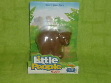Fisher Price Little People Zoo Brown Bear New
