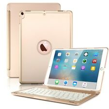 For New iPad Pro 10.5 Keyboard Case Slim Hard Shell Folio Smart Cover Case Gold