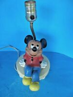 VINTAGE 1970'S WALT DISNEY PRODUCTIONS MICKEY MOUSE LAMP IN GOOD CONDITION