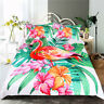 Floral Flamingo Single/Double/Queen/King/Super King Quilt/Doona/Duvet Cover Set