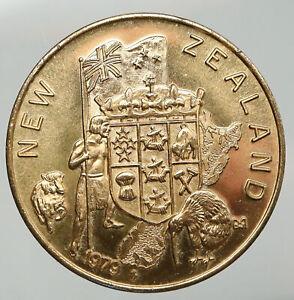 1979 UNITED STATES New Zealand Flag CONVENTION OF NUMISMATICS Old Medal i92705