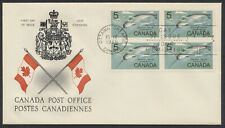 1968 #480 5c Narwhal Whale FDC, Block, Canada Post Replacement Cachet