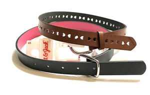 Girls Cat & Jack Lot Of 2 Pack Heart Accent Brown Belt and Black Belt Size Small