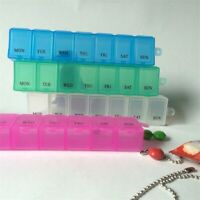 7 Days Travel Weekly Pill Box Holder Dispenser Container Storage Case AU