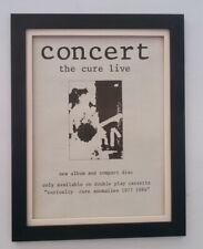 More details for the cure*concert*1984*original*poster*ad*framed*fast world ship