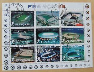 Franca 98 mini stamp sheet St Thomas e Prince