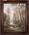 "Beautiful Russian Impressionist Oil Painting Landscape Signed ""B. Bocmpиkob""!"