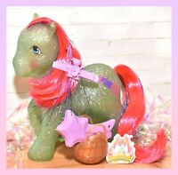 ❤️My Little Pony MLP G1 Vtg Sparkle SKY ROCKET Glitter Tinsel Star Brush❤️