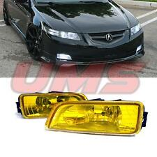 03-08 Honda Accord 4DR 03-07 Acura TL Yellow Bumper Fog Lights w/Wiring+Switch