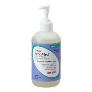 PERIOMED 0.63 STANNOUS FLUORIDE ANTIMICROBIAL ORAL RINSE MOUTHWASH MINT 10 OZ 3M