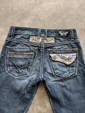 Robins Jeans Mens 31x34.5 Blue Denim Relaxed Straight Leg Jeans Medium Wash