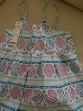Esprit girls child summer cotton dress Size sz 6 - 7 yrs BNWT fully lined