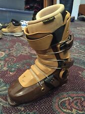 FULL TILT Tom Wallisch Pro Model Brown / Tan Downhill Ski Boots Sz 26.