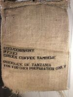 "Burlap Jute Coffee Sack Bag-""green coffee""  27.5""X 36"" Large Weave"