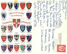 s11801 College Coats of Arms, Cambridge, England postcard 1962 stamp #2