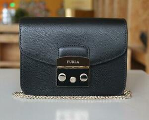 Lady Shoulder bag Furla Metropolis Mini bag leather crossbody Black Color