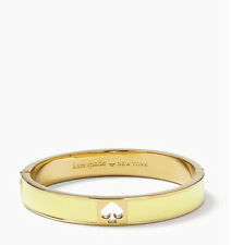 Kate Spade Yellow Hole Punch Spade 10mm Spade Gold Plate Hinge Bangle