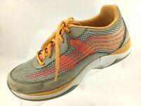 SH27 Dansko  EUR 38 US 7.5-8 Shayla Orange Gray Sneakers 4201242408