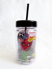 NEW MARVEL COMICS Captain American Wolverine Mason Jar 24oz Travel Cup BPA Free