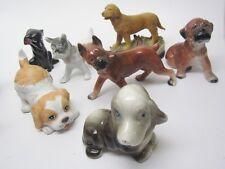 Dog Vintage Figurine 7pc Lot Assorted Breeds 1950's Japan Homco Lab Boxer Exc