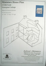 Dollhouse Plans: Georgian Cottage  front opening design  1/12 scale     A01