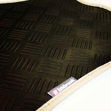 Mazda Demio (96-00) Richbrook 3mm Black Rubber Car Mats - Beige Leather Trim
