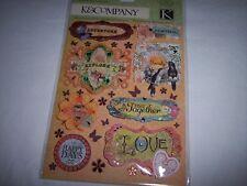 K&Company, Que Sera Sera, 27 pieces,scrapbook adhesion