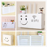 Wifi Router Storage Box Plastic Shelf Wall Hanging Bracket Cable Organizer Gift
