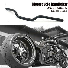 "7/8"" Black Universal Motorcycle Tracker Drag Bars Handlebars For Harley Honda"