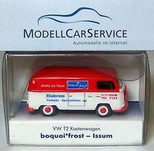 """WIKING MODELLO PUBBLICITARIO: VW T2 furgone """" boquoi Frost - ISSUM """" 50 ANNI"""
