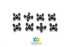 8x Lego Knob Gear Wheel Black - 32072