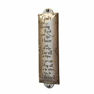 God's House Blessing Pewter Plaque or Sign - Christian House Warming Gift