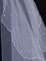 Beautiful Bridesmaid Wedding Veil Costume Wedding Bridal Veil W/ Beading Style