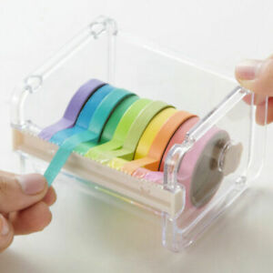 New Desktop Tape Dispenser Tape Washi Tape Dispenser Holder 1PC Tape Roll CL