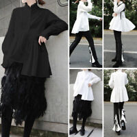 Women Loose Long Sleeve Solid Casual Blouse Party Formal Tops T Shirt Basic Tee