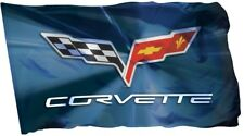 Corvette Flag Banner 3x5 ft Racing Car Man Cave Chevrolet zl1 c6 c7 Garage Wall