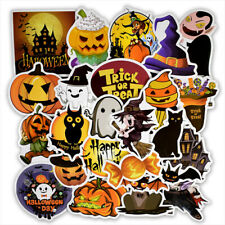25pcs Halloween Theme Stickers Luggage Trolley Cartoon Stickers Kids Stickers