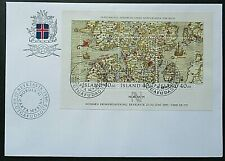 Iceland 1990 Stamp Day-Nordia 91 Mini Sheet on First Day Cover.