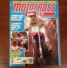 MOTOCROSS ACTION JANUARY 1982 PONCA CITY NATIONAL MXDN VINTAGE YZ RM CR KX