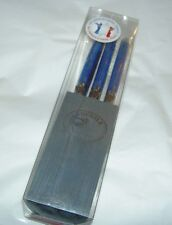 NEW LAGUIOLE Jean Dubost Stainless Steel Blue Handle 6 Steak Knives Wood Block