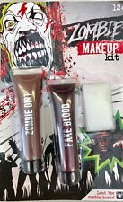 Halloween -ZOMBIE Special Effects Make Up DIRT And FAKE Blood Kit
