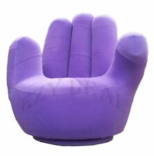 Brand New Adult size Swivel Hand Chair, Finger sofa 1 Seat Couch lounge * Purple