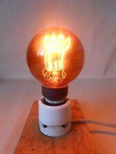 Alte Röhre Lampe Birne Kohlefaser Kohlefadenlampe Glühfadenlampe E27 in Orange